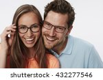 portrait of couple wearing... | Shutterstock . vector #432277546