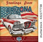 vintage touristic greeting card ... | Shutterstock .eps vector #432277738