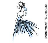 slender sexy elegant ballerina... | Shutterstock .eps vector #432280330
