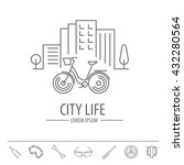 bicycle thin line design logo...   Shutterstock .eps vector #432280564