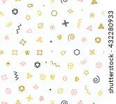 geometric shapes seamless... | Shutterstock .eps vector #432280933