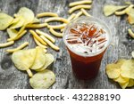 soft drink with junk food | Shutterstock . vector #432288190