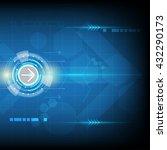 arrow move shape  technology... | Shutterstock .eps vector #432290173