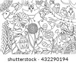 Birds And Flowers Coloring Pag...