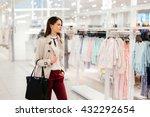 Beautiful Woman Shopping Trend...