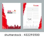 red cover design template.... | Shutterstock .eps vector #432293500