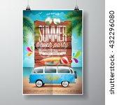 vector summer beach party flyer ...