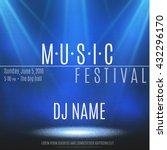 festival poster with spotlight. | Shutterstock .eps vector #432296170