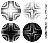 concentric circles. vector. | Shutterstock .eps vector #432296650