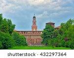 the  sforza castle in milan... | Shutterstock . vector #432297364