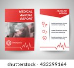 red medical annual report... | Shutterstock .eps vector #432299164