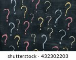 colorful question marks on... | Shutterstock . vector #432302203