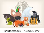 vector illustration card with... | Shutterstock .eps vector #432303199