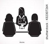 doctor advises woman patient... | Shutterstock .eps vector #432307264