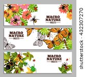 insects horizontal banners of... | Shutterstock .eps vector #432307270
