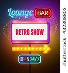 neon showing sign poster with... | Shutterstock .eps vector #432308803