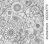 seamless pattern with flowers... | Shutterstock .eps vector #432314773