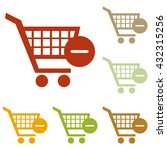 vector shopping cart with... | Shutterstock .eps vector #432315256