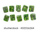 Cubes Of Frozen Spinach On The...