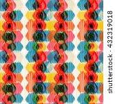 seamless ikat pattern. abstract ...   Shutterstock . vector #432319018