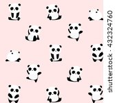 vector pattern  seamless panda... | Shutterstock .eps vector #432324760