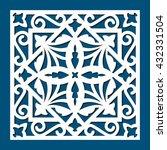 square die cut ornamental panel.... | Shutterstock .eps vector #432331504
