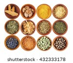 set of different spices ... | Shutterstock . vector #432333178
