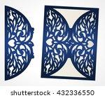 swirly diecut wedding... | Shutterstock .eps vector #432336550