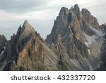 High mountain cliffs in the...