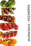 colorful tomatoes isolated on... | Shutterstock . vector #432340903