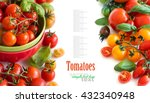 colorful tomatoes isolated on...   Shutterstock . vector #432340948