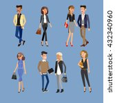 vector detailed characters... | Shutterstock .eps vector #432340960