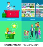 concept banner for shop. vector ... | Shutterstock .eps vector #432342604