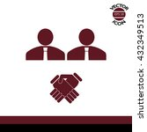 corporate agreement icon | Shutterstock .eps vector #432349513
