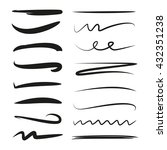 black marker strokes  hand... | Shutterstock .eps vector #432351238
