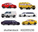 stylish flat car. transport... | Shutterstock .eps vector #432355150