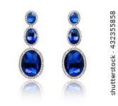pair of sapphire earrings...   Shutterstock . vector #432355858