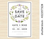 save the date  wedding... | Shutterstock .eps vector #432357328
