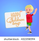 happy childrens day background  ... | Shutterstock .eps vector #432358594