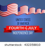fourth of july poster.... | Shutterstock .eps vector #432358810