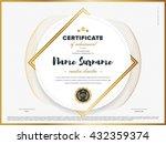 certificate vector template... | Shutterstock .eps vector #432359374