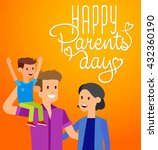 happy parents day background ... | Shutterstock .eps vector #432360190
