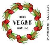 vegan food menu background.... | Shutterstock .eps vector #432361198