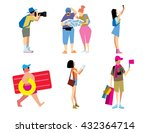 tourist isolated. traveling... | Shutterstock .eps vector #432364714
