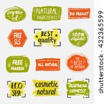 natural organic cosmetic... | Shutterstock .eps vector #432365599