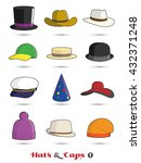 hats and caps colorful vector... | Shutterstock .eps vector #432371248
