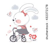 bunny hand drawn vector... | Shutterstock .eps vector #432372178