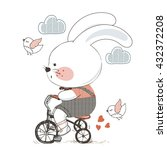 rabbit hand drawn vector... | Shutterstock .eps vector #432372208
