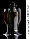 abstract wine bottle and glass... | Shutterstock . vector #43237240