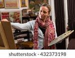 professional female painter... | Shutterstock . vector #432373198
